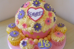 Giant 18th Cupcake