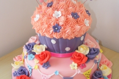 Giant cupcake tiered 21st cake