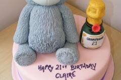 Teddy and Champagne 21st cake