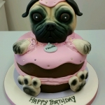 Pug in a cake birthday cake