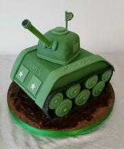 Tank cake 3d birthday
