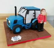 Tractor birthday cake 3D 21st