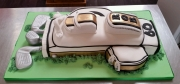 Golf Bag 60th birthday cake