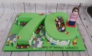 Ladies 70th numbers cake