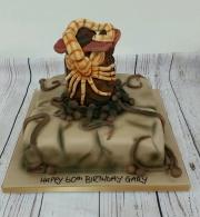 Alien egg birthday cake