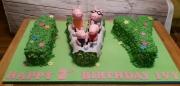Letters birthday Cake name cake