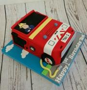 Fireman Sam engine cake