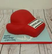 Boxing glove birthday cake