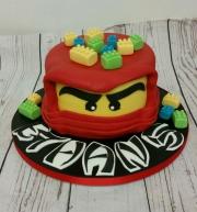 Lego Ninjago Head birthday cake