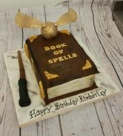 Book of Spells birthday cake