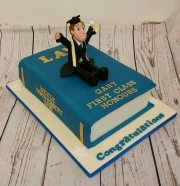 Law graduation book cake