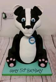 Badger birthday cake 3d