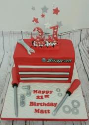 Snap on tool box 21st birthday cake