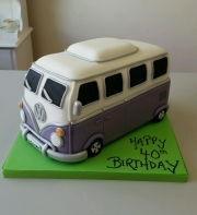 VW Campervan birthday cake