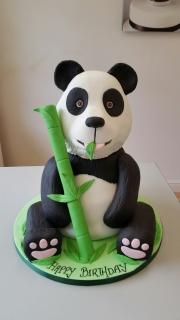 Panda 3d birthday cake