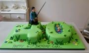 40th numbers fishing cake