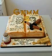 Grimm  book birthday cake