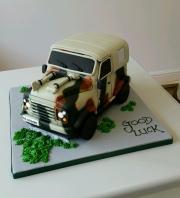 Army Landrover birthday cake