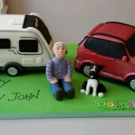 Caravan and car 60th birthday cake