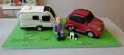 Caravan and car 60th birthday cake