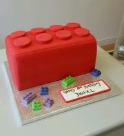 3d Lego Brick birthday cake