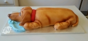 Sausage Dog Dachshund cake