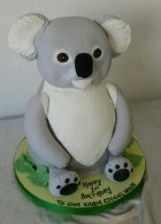 Koala birthday cake 3d