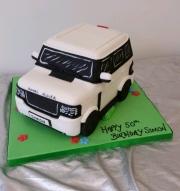 RangeRover birthday cake