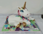 Unicorn birthday cake 3d