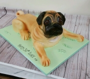 Pug dog 3d birthday cake