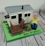 Static caravan birthday cake