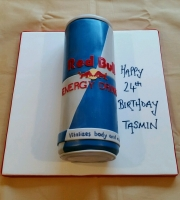 Red Bull can birthday cake