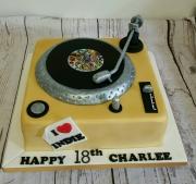 Gold decks birthday cake