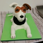 Jack Russel Dog 3d birthday cake