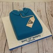 Folded tshirt cake