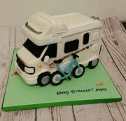 Motorhome Campervan birthday cake 3d