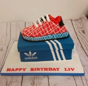 Adidas box and trainer  cake