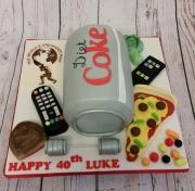 Diet coke can cake