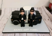 The Blues Brothers and car cake