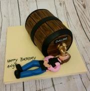 Lady beer cake