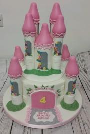 Fairy princess Castle birthday cake