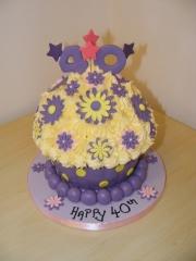 40th-Giant-cupcake