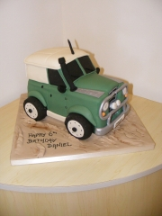 Off-road-4x4 Landrover cake