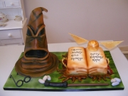 Sorting-Hat Book of Spells  Harry Potter birthday cake