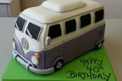 3d campervan cake
