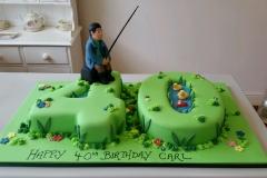 40th fishing cake