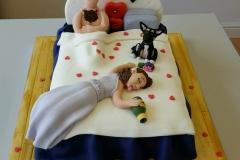 The wedding night cake