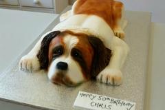 3d St Bernard dog cake