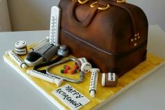 3d Doctors medical bag cake