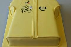 Le Tour de France yellow jersey cake